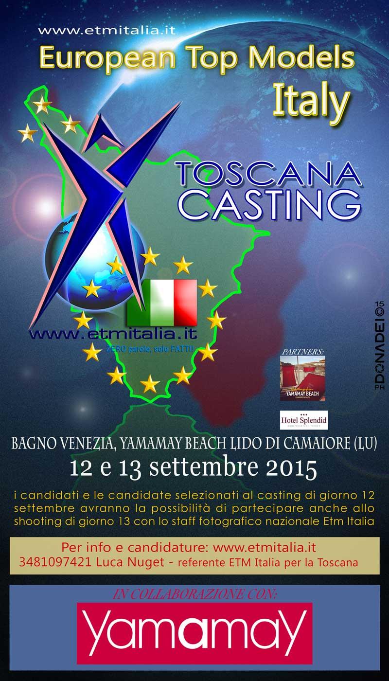 Sabato 12 settembre primo casting etm italia in toscana i love pescia - Bagno venezia lido di camaiore ...