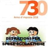 Certificazioni per detrazione 730 spese servizio di mensa scolastica e asilo nido sostenute nell'anno 2016