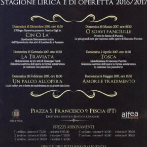 Domenica 26 febbraio Teatro Pacini stagione lirica e di operetta - UNA PALCO ALL'OPERA