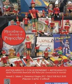 Collodi dal 2 al 4 giugno Mercatino dei collezionisti di Pinocchio.