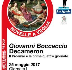 """Pescia giovedì 25 maggio """"Novelle a Veglia"""""""