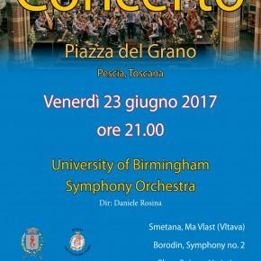 Pescia 23 giugno Concerto University of Birmingham