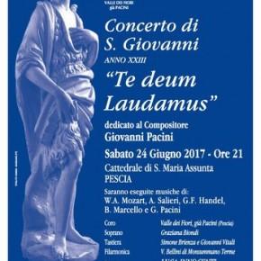 """Pescia 24 giugno. Concerto di S.Giovanni """"Te deum Laudamus"""""""