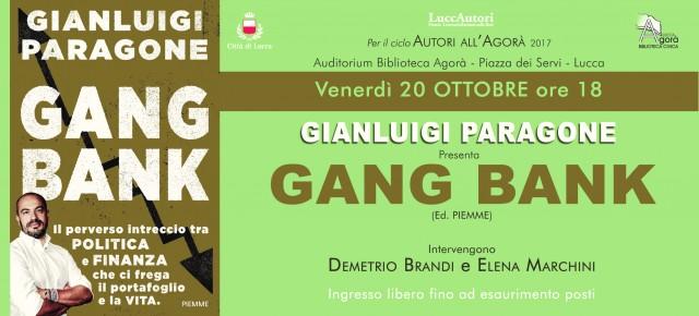 Venerdì 20 ottobre ore 18   - Biblioteca Civica Agorà  GIANLUIGI PARAGONE A LUCCA