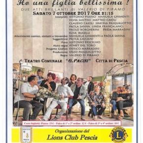 """Teatro Pacini Pescia sabato 7 ottobre Spettacolo teatrale """"Ho una figlia bellissima!"""