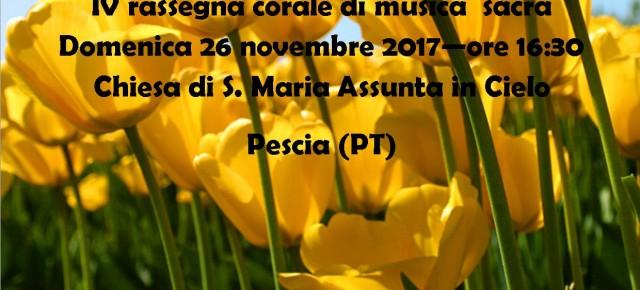 Domenica 26 novembre Parrocchia di S.Maria Assunta Castellare di Pescia VOCI PER IL CIELO