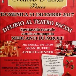 Ultimo dell'anno al Teatro Pacini Spettacolo e cena dalle ore 19,30