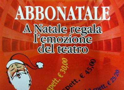 Abbonatale A Natale regala l'emozione del Teatro