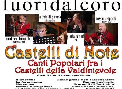Pescia Venerdì 15 novembre Castelli di Note Canti popolari fra i Castelli della Valdinievole