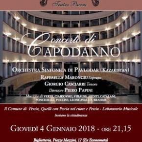 Giovedì 4 gennaio - Teatro Pacini. Concerto di Capodanno