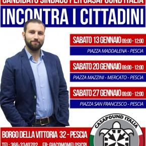 Pescia, Elezioni: riprendono gli incontri di Giacomo Melosi (CasaPound) con la cittadinanza