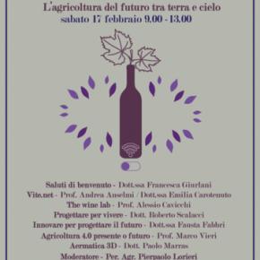 """Pescia 17 febbraio Profumo di Vino - l'agricoltura del futuro tra terra e cielo   convegno presso l'Istituto Tecnico Agrario """"D. Anzilotti"""""""