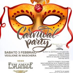 CARNIVAL PARTY   Gran Veglione di Carnevale all'hotel Esplanade di Viareggio  Sabato 3 febbraio serata di festa con cena, musica e tante sorprese
