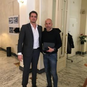 Gigi Di Biagio, commissario tecnico della nazionale di calcio, è ospite dell'hotel Esplanade di Viareggio