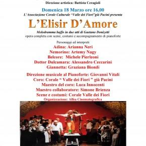 Domenica 18 marzo TEATRO PACINI – PESCIA  GRANDE LIRICA AL TEATRO PACINI CON L'ELISIR D'AMORE