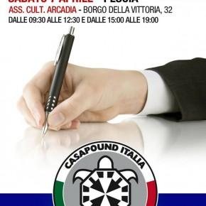 Elezioni Pescia, CasaPound raccoglie le firme per presentare la propria lista