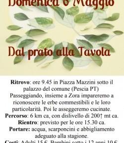 Domenica 6 maggio ''Dal Prato alla tavola''