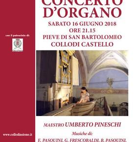 Concerto alla Pieve di Collodi Castello Sabato 16 giugno 2018