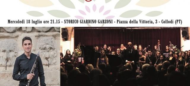"""Omaggio al """"giovane"""" Rossini allo Storico Giardino Garzoni.  Mercoledì 18 luglio, ore 21.15. Ingresso libero."""