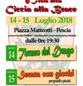 Pescia 14-15 Luglio 4° Festa della ciccia alla brace Piazza Matteotti (presso i Giardini Pubblici)
