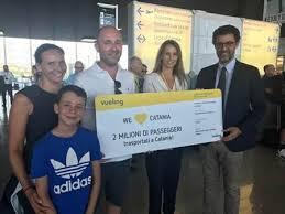 E' toscano il 2 milionesimo passeggero trasportato a Catania da Vueling e vince due biglietti omaggio per viaggiare ancora con la compagnia!
