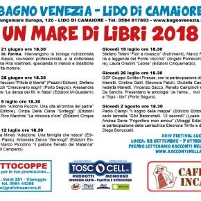 Giovedi 12 luglio alle 18.30 Un mare di libri al Bagno Venezia di Lido di Camaiore Con Francesca Mineo, Antonella Zanca e Marco Piccolino