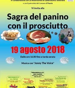 Castelveccho domenica 19 agosto Sagra del panino con il prosciutto