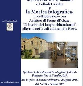 Apertura della Pieve di Collodi Castello Le domeniche ed i festivi dal 2 al 30 Settembre 2018