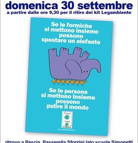 Pescia domenica 30 settembre ''Puliamo il mondo'' La raccolta dei rifiuti di Legambiente