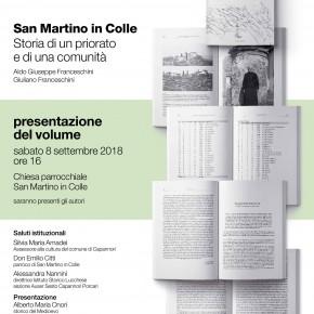 Sabato 8 settembre presentazione volume sulla storia di San Martino in Colle.