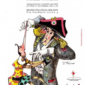 """""""Preso per il naso- Pinocchio e i Carabinieri"""":  mostra a Milano con un annullo speciale di Poste Italiane"""