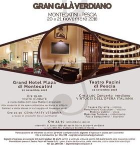 Gran Galà Verdiano Montecatini - Pescia, 20/21 Novembre 2018