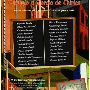 Hotel Esplanade Viareggio  Sabato 8 dicembre OMAGGIO A GIORGIO DE CHIRICO