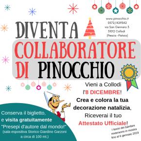 Pinocchio: tutti insieme ad addobbare il Parco.  E domenica 9 si consegnano le letterine di Natale.