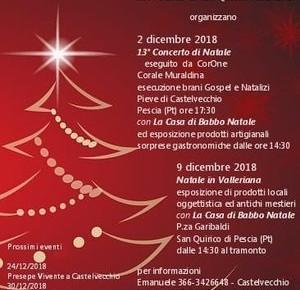 Natale in Valleriana programma eventi natalizi a Castelvecchio e San Quirico