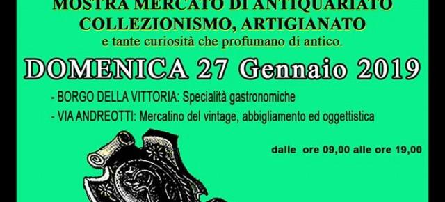 DOMENICA 27 GENNAIO TORNA PESCIA ANTIQUA