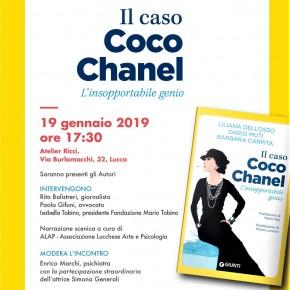 """Lucca Sabato 19 gennaio """"Il caso Coco Chanel – l'insopportabile genio"""" - Atelier Ricci a Lucca / Fondazione Mario Tobino"""