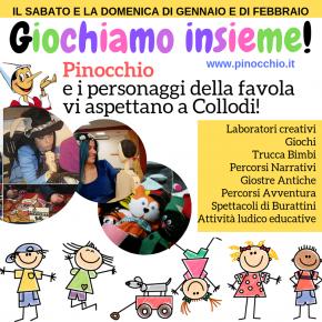 Con Pinocchio è vietano NON toccare! Laboratorio multisensoriale,  trucca bimbi, spettacolo di burattini e tanto altro!