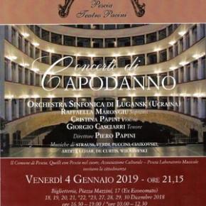 Pescia Teatro Pacini venerdì 4 maggio. Concerto di Capodanno