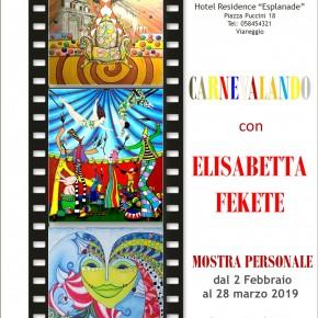 "Viareggio Hotel Esplanade sabato 2 febbraio : mostra ""Carnevalando"" di Elisabetta Fekete"