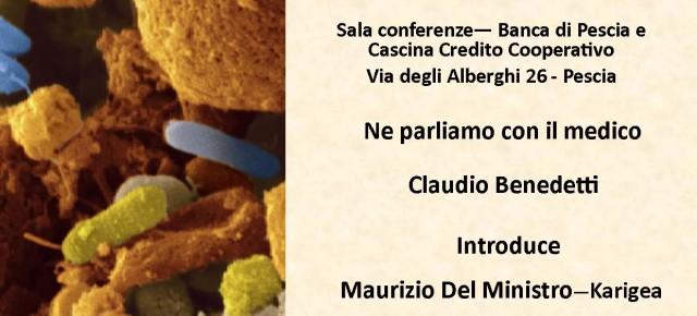 """Banca di Pescia sabato 26 Gennaio. Incontro """" Consigli pratici per la felicità del nostro intestino"""","""