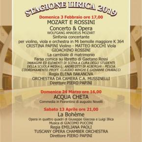 La stagione lirica 2019 al Teatro Pacini di Pescia