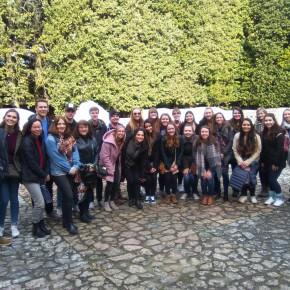 Studenti universitari americani in visita a Pinocchio