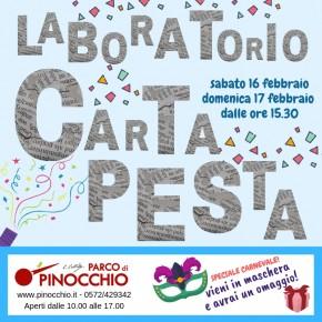 Sabato 16 e domenica 17 febbraio al Parco di Pinocchio di Collodi. Con la cartapesta costruiamo il Grande Pescecane!