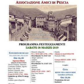 """30° Anniversario Associazione """"Amici di Pescia"""" Concerto musicale e cena"""
