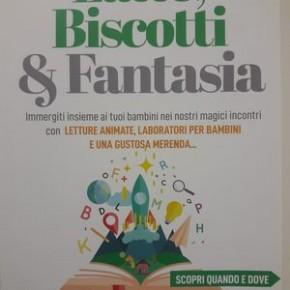 Latte Biscotti & Fantasia letture, laboratori per bambini e merenda nel negozio Berit Arti a Pescia