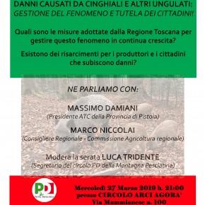 Pietrabuona circolo Agorà mercoledì 27 marzo DANNI DA UNGULATI: CHI TUTELA I CITTADINI?