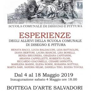 Pescia Bottega d'Arte Salvadori 4-18 maggio. ESPERIENZE degli Allievi della scuola comunale di disegno e pittura.