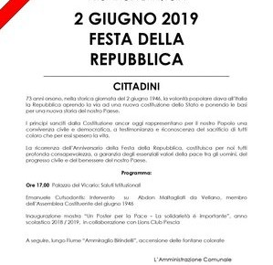 2 giugno Festa della Repubblica La festa degli italiani