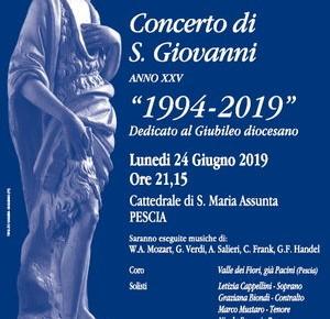 Cattedrale di Pescia, lunedì 24 giugno. Concerto di San Giovanni
